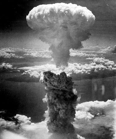 Fat-Man-Pilz über Nagasaki 1945.